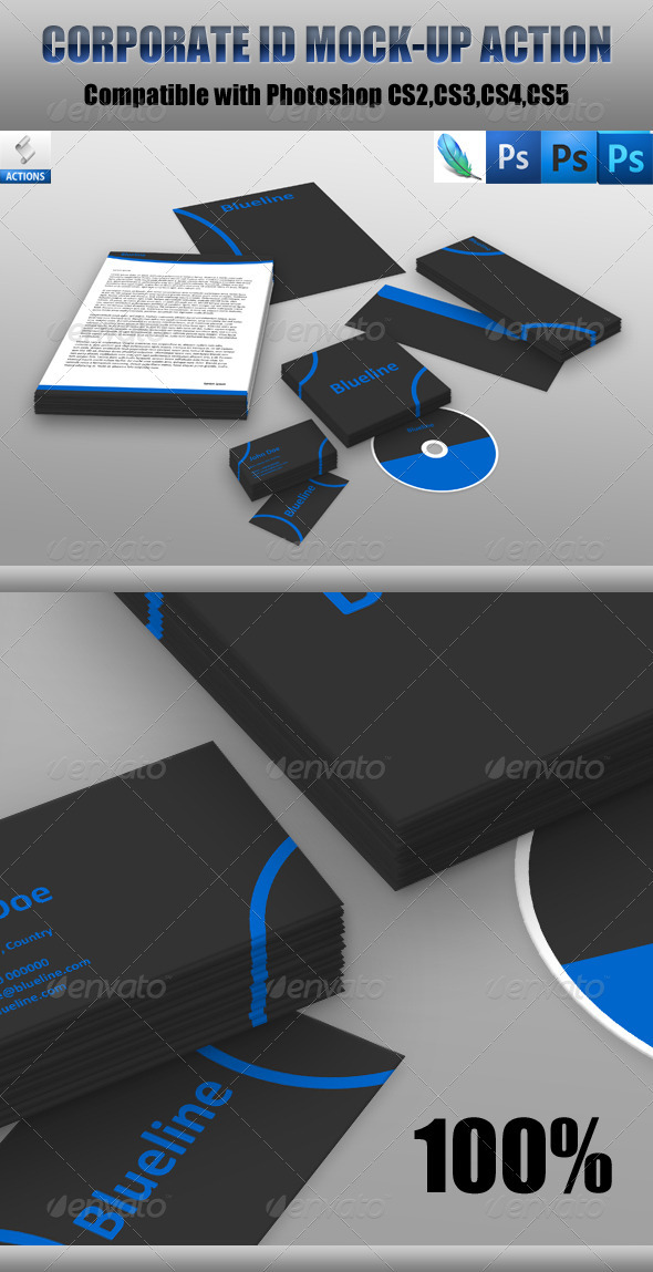 GraphicRiver Corporate Id Mockup Action 557571