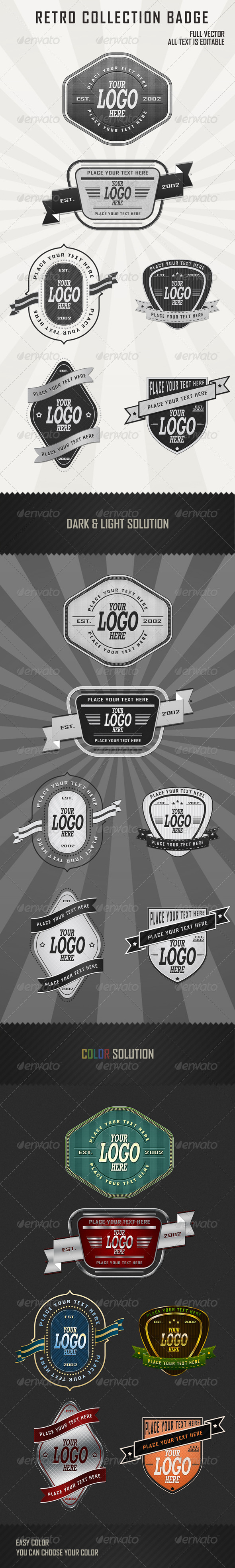 Graphic River Retro Badges Collection vol2 Web Elements -  Badges & Stickers 557740