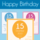 Happy Birthday Card Template - Vol. 1 - GraphicRiver Item for Sale