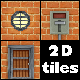 2D Game Tileset - Red Brick - GraphicRiver Item for Sale