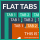 Flat Tab Widget Design  - GraphicRiver Item for Sale