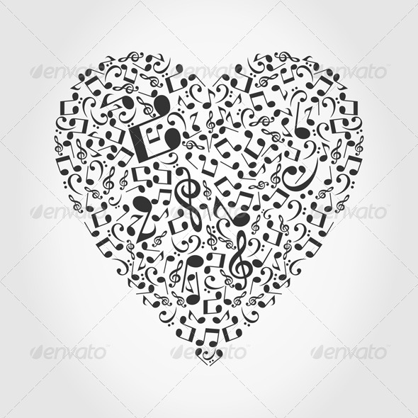 Graphic River Musical heart2 Vectors -  Conceptual  Seasons/Holidays  Valentines 558254