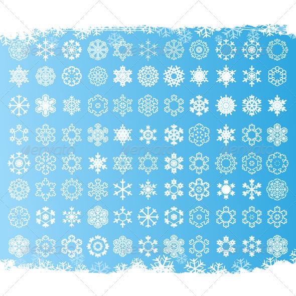 Graphic River Snowflake6 Vectors -  Conceptual  Nature  Seasons 558259