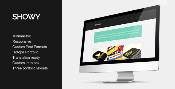 Theme de WordPress Estilo Flat: Showy