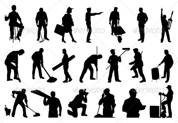 Graphic River Working people Vectors -  Characters  People 558319