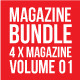 4X Magazine Collection (Mgz Bundle Vol. 01) - GraphicRiver Item for Sale