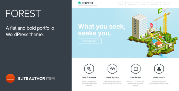Theme de WordPress Estilo Flat: Forest
