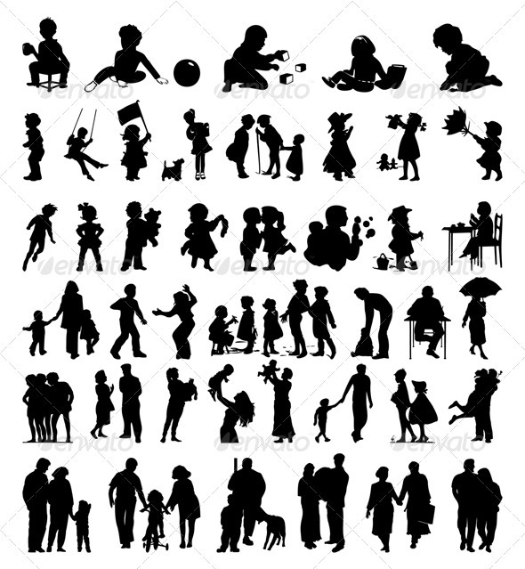 Graphic River Family5 Vectors -  Characters  People 558817