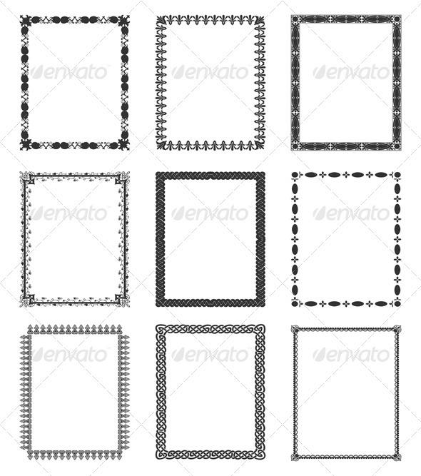 Graphic River Framework Vectors -  Decorative  Borders 558825