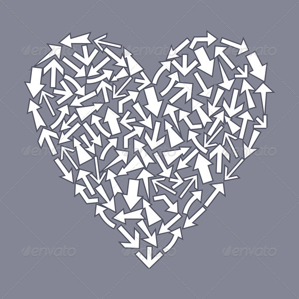 Graphic River Heart from arrows2 Vectors -  Conceptual  Seasons/Holidays  Valentines 558829