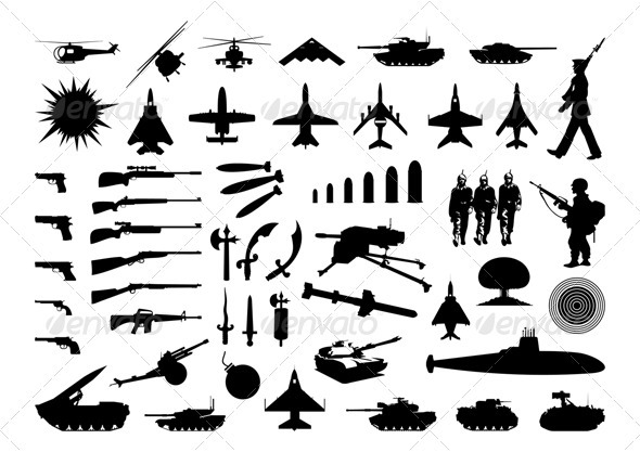 Graphic River Military collection Vectors -  Objects  Man-made objects 558834