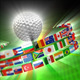 Golf Ball With International Flags - VideoHive Item for Sale
