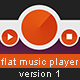 Flat Music Player v1 - GraphicRiver Item for Sale