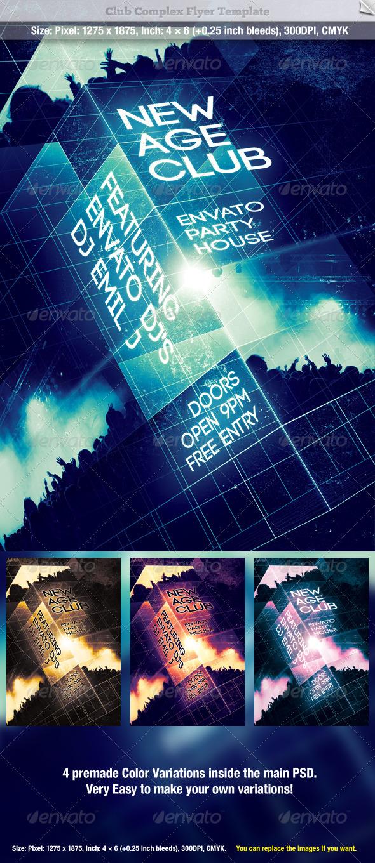 GraphicRiver Club Complex Flyer Template 560817