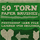 50 Torn Paper Brushes + 8 Textures - GraphicRiver Item for Sale