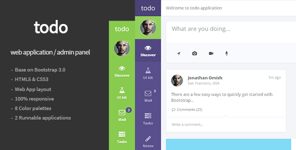 html template for admin panel - todo web application and admin panel template by