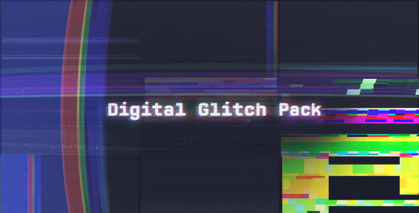 After Effects Project - VideoHive Digital Glitch Pack 561610