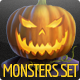 Halloween Monsters Set - GraphicRiver Item for Sale