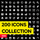 200 Vector Icons - GraphicRiver Item for Sale