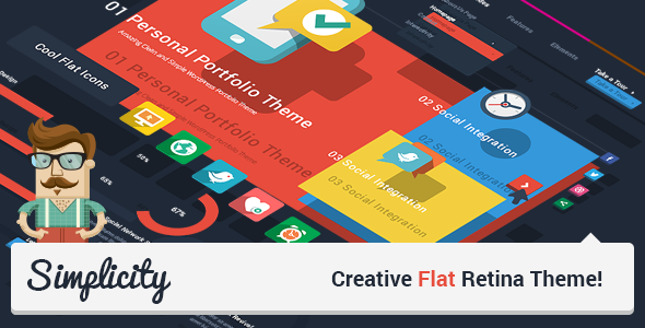 Theme de WordPress Estilo Flat: Simplicity