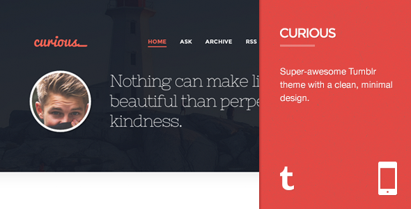 Curious – Responsive Tumblr Theme (Tumblr) images
