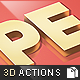 Premium 3D Text Actions - GraphicRiver Item for Sale