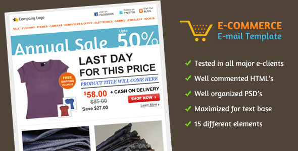 Themeforest - E-commerce E-mail Template - RIP