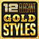 Gold Metal Elegant Text Styles - GraphicRiver Item for Sale
