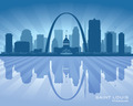 Saint Louis Missouri skyline city silhouette - PhotoDune Item for Sale