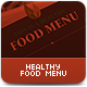 Healthy Food Menu - GraphicRiver Item for Sale