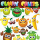 Colorful Cartoon Fruits - GraphicRiver Item for Sale