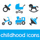 Childhood Icons - GraphicRiver Item for Sale
