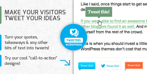 TweetDis – Make Any Phrase Tweetable (Social Networking) images