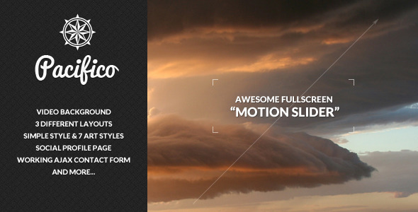 ThemeForest - Pacifico - Fullscreen template with Motion Slider - RiP