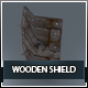 Wooden Shield Low Poly L4 - 3DOcean Item for Sale