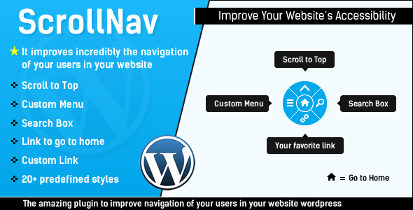 ScrollNav – Scroll to Top, Menu & Search for WP (Utilities) images
