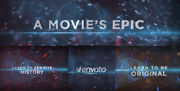 After Effects Project - VideoHive A Movie's Epic 571231