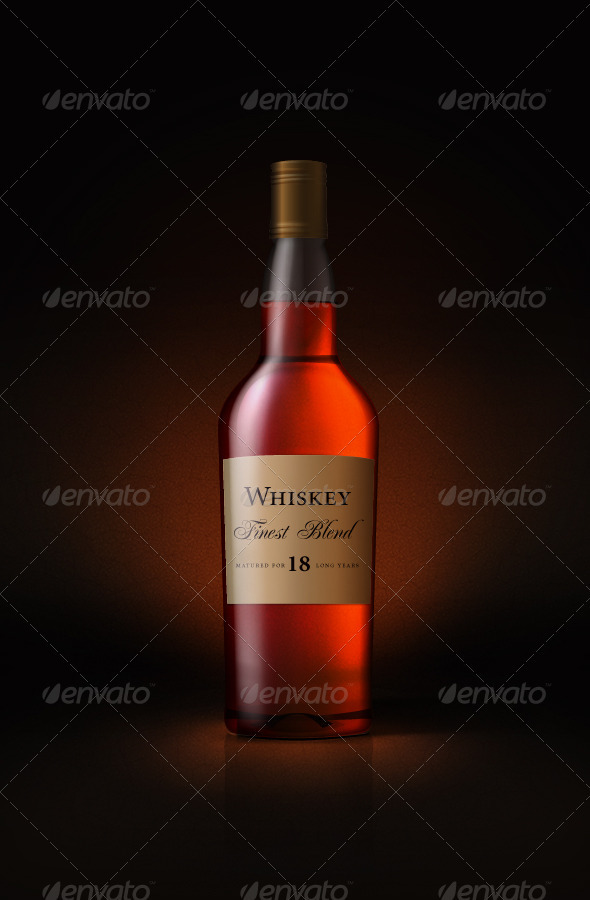 GraphicRiver whiskey bottle 561358