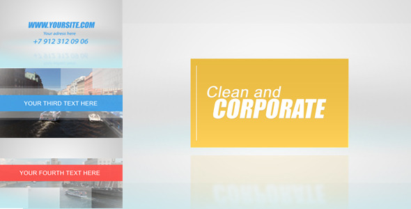 After Effects Project - VideoHive Clean and Corporate 571821