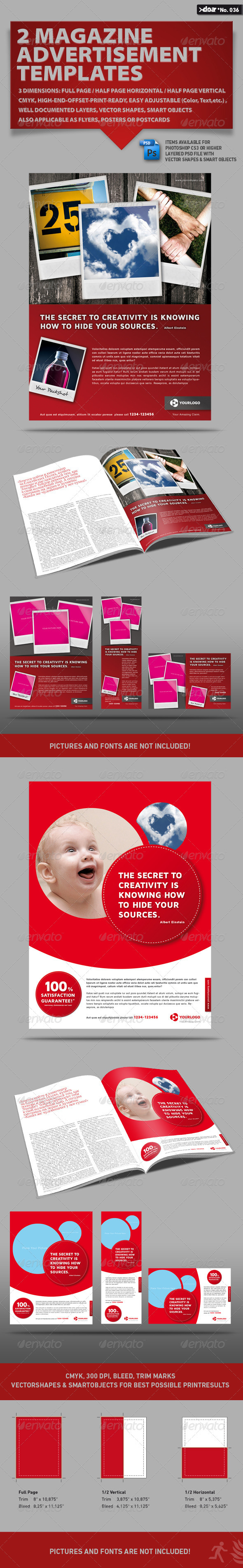 GraphicRiver 2x3 Magazine AD Templates 572099