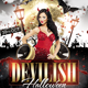 Devilish Halloween Glamour Flyer Template - GraphicRiver Item for Sale