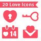 20 Love Icons - GraphicRiver Item for Sale
