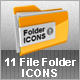 11 File Folder Icons - GraphicRiver Item for Sale