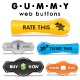 Gummy Web Buttons - GraphicRiver Item for Sale
