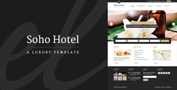 Download Free Hotel Website Template Freakify Com: Responsive Hotel Booking WP Theme By