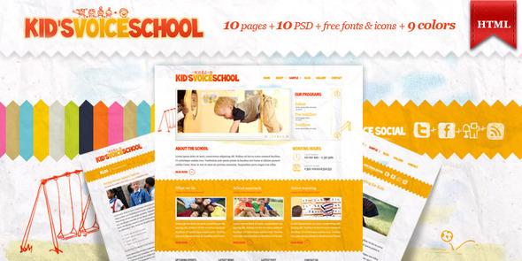 ThemeForest - Kids Voice School - HTML Template - RiP