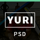 Yuri - One Page Flat Portfolio PSD Template - ThemeForest Item for Sale