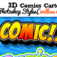 3D Comic Book and Cartoon Photoshop Styles - GraphicRiver Item for Sale