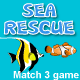 Sea Rescue, match 3 game - ActiveDen Item for Sale
