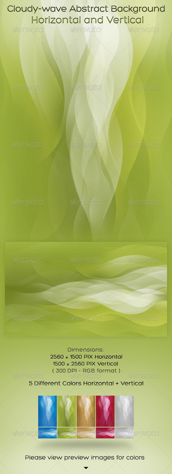 GraphicRiver Cloudy-wave Background Horizontal and Vertical 575628